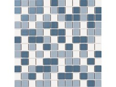 Mosaico in gres porcellanato per interni ed esterniSABA MIX MATT - LUCIDI - CE.SI. CERAMICA DI SIRONE