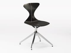 Sedia girevole su trespolo in tecnopolimero e metalloSABLIER | Sedia girevole - BBB