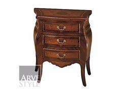 Comodino in legno massello con cassettiPARIGI | Comodino - ARVESTYLE