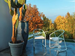 Sedia da giardino in acciaio inox con braccioliSALLY | Sedia con braccioli - CORO
