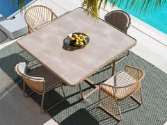 Sedia da giardino in acciaio inox con braccioliSALLY | Sedia in acciaio inox - CORO