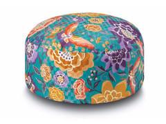 Pouf Pallina in raso di cotone effetto dama SAMOA | Pouf - Oriental Garden