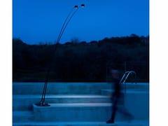 Lampada da terra a LED in fibra di vetro e metallo SAMPEI OUTDOOR -