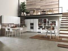 Cucina componibile laccata con penisola SAND | Cucina -