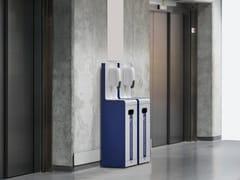 Dispenser igienizzante mani con cestino in acciaioCOLOMBO - METALCO