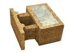Blocco in legno-cemento con inserti ecologici isolantiSBL 50 ECO - LEGNOBLOC