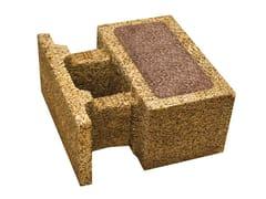 Blocco in legno-cemento con inserti ecologici isolantiSBS 50 ECO - LEGNOBLOC