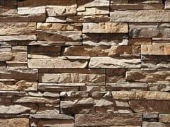 Rivestimento in pietra ricostruitaSCAGLIA P16 | Marrone Reale - GEOPIETRA