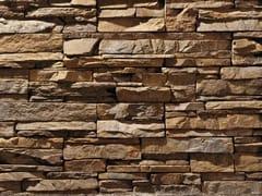 Rivestimento in pietra ricostruitaSCAGLIA P16 | Marrone Terra - GEOPIETRA