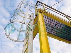 Scala di sicurezza industriale in vetroresinaSCALE ALLA MARINARA IN VETRORESINA PRFV - DIV. EUROGRATE - TICOMM & PROMACO