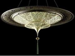 Lampada a sospensione in seta SCHEHERAZADE 2 TIERS WITH METAL RING - SILK LAMPS