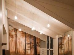 Lampada a sospensione a LED a luce diretta in vetroSCIAME GOCCIA - ALBUM ITALIA