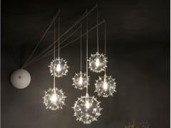 Lampada a sospensione a LED in vetro soffiatoSCIAME XL DIATOMEA - ALBUM ITALIA