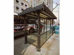 Pensilina in ghisa per fermata autobusSCILLA | Pensilina - NERI