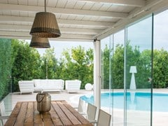 Frigerio Living, SCINTILLA Porta-finestra complanare scorrevole in alluminio e vetro