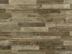 Pavimento/rivestimento in gres porcellanato a tutta massa effetto legnoSCRAPWOOD Fire - ITALGRANITI