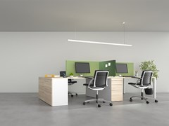 Pannello fonoassorbente da scrivania SCRIBA | Pannello divisorio da scrivania -