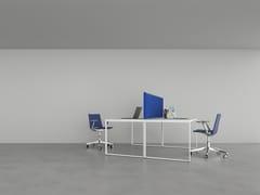 Pannello divisorio da scrivania con illuminazione integrataSCRIBA | Divisorio ufficio con illuminazione integrata - CARUSO ACOUSTIC BY LAMM