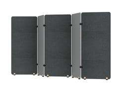 Pannello divisorio fonoassorbente free standing modulare SCULPO | Pannello divisorio modulare - SCULPO