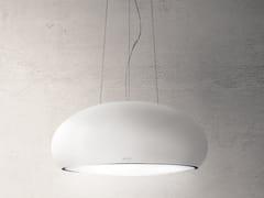 Cappa ad isola in acciaio inox con aspirazione perimetrale con illuminazione integrataSEASHELL - ELICA