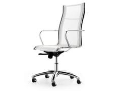 Sedia ufficio operativa ad altezza regolabile in rete a 5 razze con braccioli SEASON NET | Sedia ufficio operativa girevole - Season