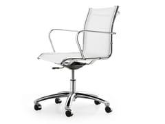 Sedia ufficio operativa ad altezza regolabile in rete a 5 razze con braccioli SEASON NET | Sedia ufficio operativa - Season