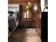 Comodino rettangolare in legnoSEGRETI S192R | Comodino - ARTE BROTTO MOBILI