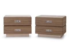 Comodino rettangolare in legno con cassettiSEGRETI S196/Z | Comodino - ARTE BROTTO MOBILI