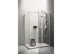 Box doccia angolare con porta a battenteSEI | Box doccia angolare - ARBLU