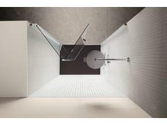 Box doccia a nicchia con porta a soffiettoSEI | Box doccia a nicchia - ARBLU