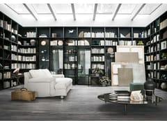 Libreria componibile modulare su misuraSELECTA NOCE L | Libreria - LEMA