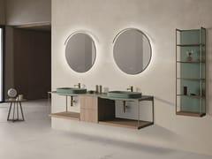 Mobile lavabo doppio sospesoSEN | Mobile lavabo doppio - FIORA
