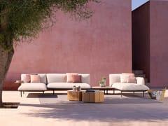 Divano da giardino angolare modulare in tessutoSENJA | Divano da giardino modulare - TRIBÙ