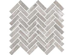Mosaico finitura opacaSENSI MOSAICO CHEVRON Arabesque Silver sablè - ABK GROUP INDUSTRIE CERAMICHE