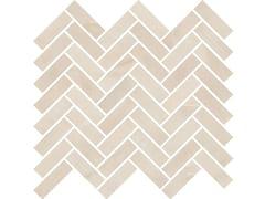 Mosaico finitura opacaSENSI MOSAICO CHEVRON Sahara Cream sablè - ABK GROUP INDUSTRIE CERAMICHE