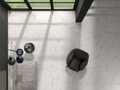Gres porcellanato a massa colorata SENSI Statuario White Sablè - ABK GROUP INDUSTRIE CERAMICHE