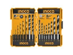 Set punte per trapano metallo/muro/legnoSET 16 PUNTE TRAPANO METALLO/MURO/LEGNO AKD9165 - INGCOITALIA.IT - XONE