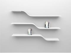 Mensola in alluminio verniciato a polvere SET 4 - Network modular shelf