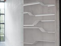 Mensola in alluminio verniciato a polvere SET 9 - Network modular shelf