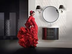 Mobile lavabo singolo sospeso con specchio SET VERSAILLES 900 -