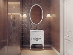 Mobile lavabo singolo con specchio SET XANTHI 850 -