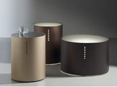 Tavolino rotondo retro-illuminato in metallo e vetroSETTE MAGIE - ACERBIS BY MDF ITALIA