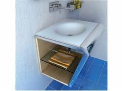 Mobile lavabo singolo sospesoSETTEMENO | Mobile lavabo in Corian® - COMPONENDO