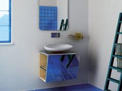 Mobile lavabo singolo sospeso in acciaio inoxSETTEMENO | Mobile lavabo sospeso - COMPONENDO