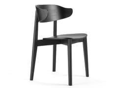 Sedia impilabile in legno impiallacciato con schienale aperto SETTER | Sedia -