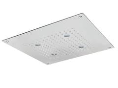 Soffione doccia da incasso con 2 getti TECHNO | Soffione doccia con getto nebulizzato - Techno