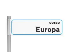 Targa per toponomastica in alluminio estrusoSG170 - LAZZARI SRL