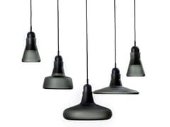 Lampada a sospensione a luce diretta in vetro soffiatoSHADOWS XL | Lampada a sospensione in vetro - BROKIS