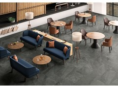 Pavimento/rivestimento in gres porcellanato effetto pietraSHALE Ash - ITALGRANITI