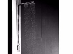 Colonna doccia a parete in ottone con soffione SHARP | Colonna doccia a parete - Sharp